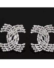 Fashion Jewelry Channel 925 Silver Earrings with White Topaz. Gorgeous!
