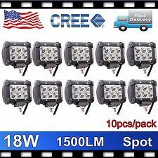 10x 4inch 18W CREE LED LIGHT BAR WORK SPOT OFFROAD BOAT UTE CAR TRUCK 4X4WD LAMP