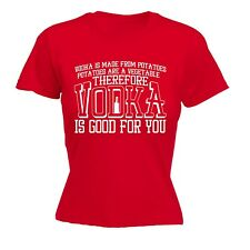 Women's Vodka Is Good For You Funny Joke Bar Pub Adult FITTED T-SHIRT