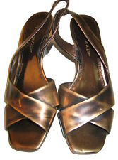 NEW Etienne Aigner Ladies Copper Sandals Wizza Wedge Slip On Shoes - Size 6 M