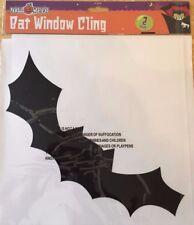Halloween PIPISTRELLO GIGANTE Spaventoso Finestra Adesivi, Confezione da 2, BAT finestra stick decorazioni