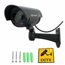 Cámara Video Vigilancia Falsa CCTV color negro. Con LED intermitente