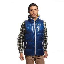 VANCL Men Reversible Duck Down Vest Blue Large NWT