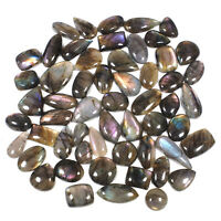 56 Pcs Natural Loose Labradorite 17mm-34mm Glossy Cabochon Gemstones Wholesale
