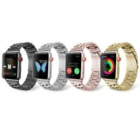 Correa Metalica Compatible Con Apple Watch Serie 1 2 3 4 5 SE Color Hebilla Iman