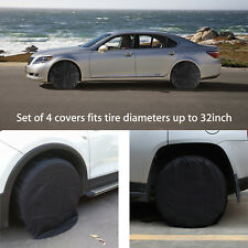 4 Pcs Wheel Tire Covers For Rv Trailer Camper Car Truck And Motor Home Black