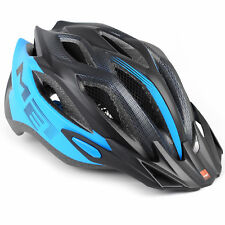 MET Crossover Bike Helmet // Matte Cyan/Black // Medium