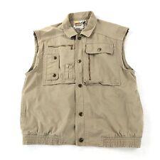 Vintage 90s Utility Cargo Safari Vest Women's Medium Button Front Pockets