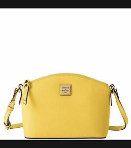 Dooney & Bourke Saffiano Suki Crossbody Shoulder Bag in Dandelion Yellow