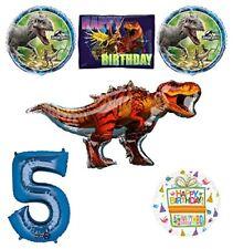 Jurassic World Dinosaur 5th Birthday Party Supplies and Balloon Decorations