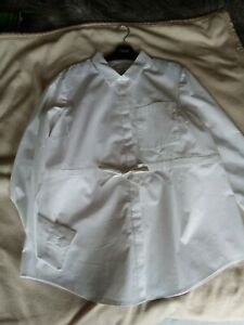 BNWT NEXT  MATERNITY LONG Sleeved white blouse  SHIRT SIZE 12 with stretch