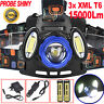 15000Lm 3x XML T6 LED Headlamp Rechargeable Headlight 18650 Head Torch Light UK