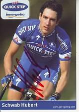 CYCLISME carte cycliste SCHAWB HUBERT équipe QUICK STEP innergetic  signée