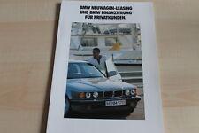 93867) BMW - Leasing Finanzierung Privatkunden - Prospekt 1993