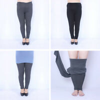 Women Winter Thick Warm Fleece Lined Thermal Stretchy Leggings Pants Plus Size
