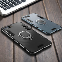 For iPhone Xs Max XR 6 7 8 Plus Magnetic Hard Armor Ring Stand Holder Case Cover