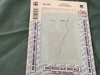 Microscale decals N 60-1085 Union Pacific chair cars coaches gold letters  C47