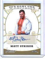 Matt Striker 2016 Leaf Wrestling Signature Series Authentic Autograph Card WWE