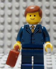 LEGO Minifig Businessman Manager Boss Lawyer Attorney Blue Pinstripe Suite
