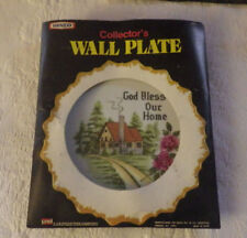 """Vintage Nevco Wall Plate God Bless Our Home #2995 7"""" Japan Diameter New"""