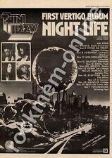 Thin Lizzy Night Life 6360 116 Town Hall, Skipton MM4 LP/Tour Advert 1974