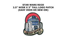 Star Wars R2D2 Embroidered Patch Iron On or Sew Applique NEW Movies Sci-Fi Robot