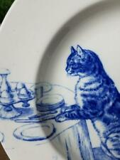 MINTON Cat Series Vtg Hand Painted Serving Bowl Cat at Table 1873 - 1891