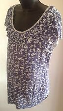New Look Maternity Flower Top Size 14