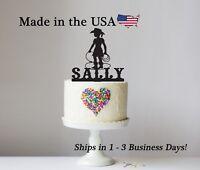 Little Cowgirl Cake Topper, Girl Birthday, Rodeo, Western Cake Keepsake - LT1278