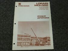 Koehring Lorain MCH-500 Crane Specifications & Lifting Capacities Manual