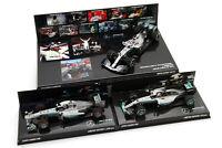 3x 1/43 Minichamps Lewis Hamilton Mercedes F1 2013 2016 2019 World Champion