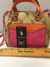 Women's Tote Small U.S. Polo Assn. Chino/Pink   REDUCED PRICE. NEW WITH TAGS