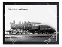 Historic Weed Lumber Co. - Weed, California Train Postcard