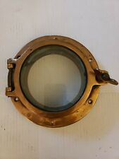 Antique Copper  Ship Porthole Window 8""
