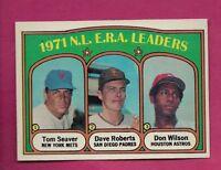1972 TOPPS # 91 TOM SEAVER E.R.A  LDR NRMT+  CARD (INV# A7721)
