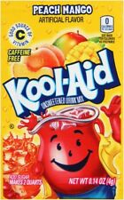 12 Packs of Kool Aid Peach Mango Flavor Drink Mix Packet Gluten