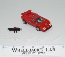 Sideswipe * 100% Complete 1984 Hasbro G1 Transformers Lamborghini Action Figure