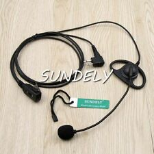D-Shape Earpiece/Headset Mic For Motorola Radio CP200 CP185 PR400 With PTT 56517
