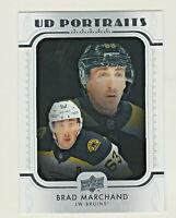 2019-20 Upper Deck PORTRAITS #P-22 BRAD MARCHAND Boston Bruins