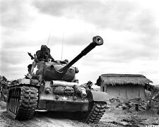 New 8x10 Korean War - Conflict Photo: M-46 Patton Tank Passes Thru Kumko, Korea