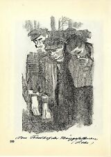 Käthe Kollwitz Werke: Vom Friedhof der Märzgefallenen / überfahrendes Kind 1930
