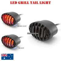 LED Prison grill Tail light Smoked Motorcycle Project Streetfighter Custom bike