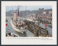 Foto Agfacolor Hamburg Reederei Hapag Oceana Seebäderdampfer Landungsbrücken ´38
