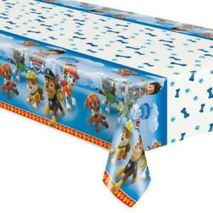 """PAW PATROL PARTY SUPPLIES TABLE COVER BOY 54"""" X 84"""""""