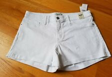 NWT Abercrombie & Fitch Low Rise White Denim Shorts Size 10