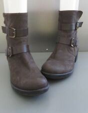 Lavorate Taupe/Brown Leather Boots Made in Italy Size 40 US 9.5 Dual Buckle