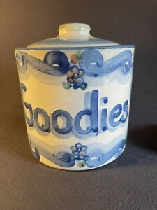 """M.A. Hadley Goodies Canister w/Lid """"Please Fill Me"""" Vintage Farmhouse"""