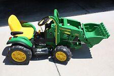 Peg Perego John Deere Kids Ground Loader Tractor 12 Volt Battery Powered Ride-On