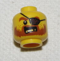 LEGO NEW YELLOW MINIFIGURE FIGURE HEAD WITH EYEPATCH PIRATES OF THE CARIBBEAN