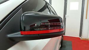 Mercedes AMG Edition 1 Mirror Cap Red Stripes A Class A200 A45 CLA45 GLA45 C63
